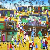The New Area - Katherine Ambrose South African Art, Online Painting, Art Club, Public Art, Artist Painting, Pretty Pictures, Love Art, Coasters, Paintings