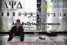 Flyer from an Anti-Bullying Discussion Event #antibullying