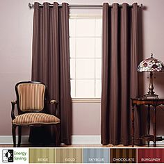 Satin Stripe Blackout Curtains