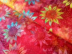 Sunflowers on rainbow