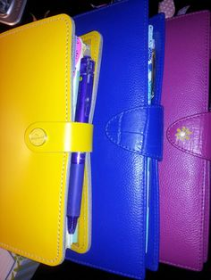 My filofax personal original and my Bright blue and Deep pink A5size Calipsos.