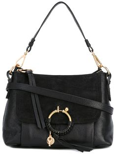 Joan Small Crossbody Bag in Black Small Grain Cowhide Leather See By Chlo E0LpyPRk