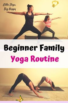 Beginner Family Yoga Routine - Check out this family friendly yoga routine. Fun yoga poses for children to help them unwind and take brain breaks. This article has pictures to help your kids learn the moves easier. Perfect for beginners and kids to ease into yoga. #yogawithkids #familyfriendlyyoga #kidyogaposes #beginneryoga #freeprintableexercise<br> Morning Yoga Routine, Gym Routine, Fitness Routines, Kids Yoga Poses, Cool Yoga Poses, Gym Workout For Beginners, Yoga Poses For Beginners, Family Yoga, Family Family