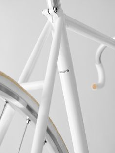 clean white bike frame