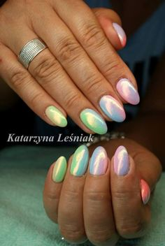 by Kasia Leśniak, Double Tap if you like #mani #nailart #nails #syrenka Find more Inspiration at www.indigo-nails.com