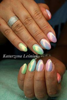 by Kasia Leśniak, Double Tap if you like #mani #nailart #nails #syrenka Find more Inspiration at www.indigo-nails.com