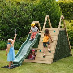 Kids Play Centre Garden Activity Toys Wood Playground Climbing Frame Wooden for sale Kids Outdoor Play, Outdoor Play Areas, Kids Play Area, Backyard For Kids, Modern Backyard, Outdoor Fun, Diy Playground, Playground Design, Children Playground