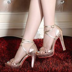 Ladies' Sexy Cross-Strap High-Heeled Sandals
