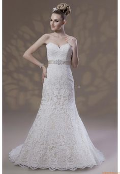 Elegant Sweetheart Sheath Court Train Unique Wedding Dress Venus VE8119 Venus 2013