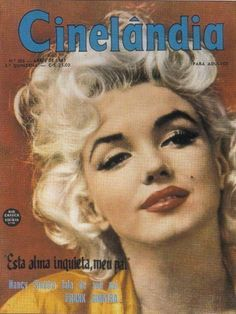 Cinelandia - April 1961, magazine from Brazil. Front cover photo of Marilyn Monroe by Hal Berg, 1955.