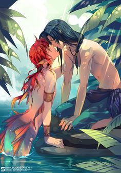 "Find and save images from the ""Merman/Mermaid"" collection by Dark Rose 20 on We Heart It, your everyday app to get lost in what you love. Manga Sexy, Manga Anime, Anime Art, Anime Mermaid, Mermaid Art, Fantasy Creatures, Mythical Creatures, Anime Love, Anime Guys"