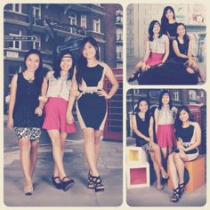 with the girls