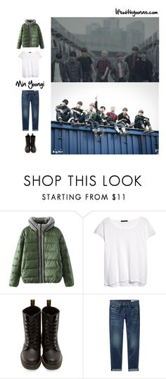 """BTS I need u MV inspired by Suga outfit"" by the92liner ❤ liked on Polyvore featuring MANGO, Dr. Martens, rag & bone/JEAN, bts, BangtanBoys, Suga, kpopoutfit and inspiredbyoutfit"