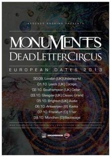 MONUMENTS - Co-Headliningtournee - Metal-FM.com, Metal-Webradio and Community! #metal #metalgegennazis #webraido #radio #heavymetalmusic #heavymetal #heavymetalnews #events #gigs #veranstaltungen