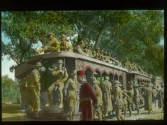 WW1. Troop train in Egypt by State Library of Victoria Collections on Flickr.