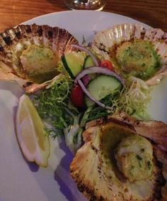 Grilled scallops at Cape Toen Fish Market