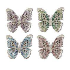 Butterfly Napkin Jewels Napkin Rings, Set of 4 by L'Objet