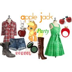 """Apple Jack (My Little Pony: Friendship is Magic)"" by colorsgalore on Polyvore"