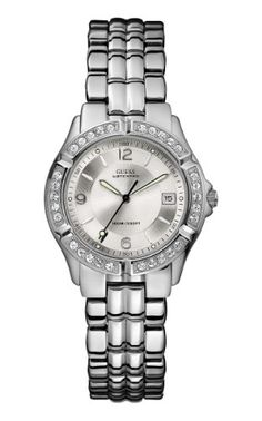 GUESS Women's G75511M Mid-Size Sporty Chic Silver-Tone Watch   	  	    	  	$ 64.99 Women Watches Product Features Precise Japanese-Quartz movement Mineral crystal Case diameter: 37 mm Stainless-steel case; Silver dial; Date function Water resistant to 330 feet (100 M) Manufacturer case included design may vary Women Watches Product Description Define Your Time with this GUESS Dazzling Sporty Mid-Size Silver-Tone Watch with DateYou won't have to sacrifice […]  http://www.bestwom..