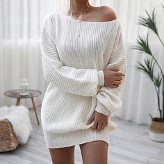 LightInTheBox - Παγκόσμιες Online Αγορές για Φορέματα, Σπίτι & Κήπος, Ηλεκτρονικά Προϊόντα, Ένδυση Γάμου Loose Knit Sweaters, Casual Sweaters, Sweaters For Women, Women's Sweaters, Long Sleeve Sweater Dress, Knit Sweater Dress, Oversized Sweater Dress, Christmas Sweater Dress, Sleeve Dresses
