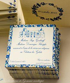 Illustration mariage - baptême - fêtes Illustration, Wedding Invitations, Frame, Card Ideas, Thanks, Impressionism, Graphic Design, Dibujo, Wedding Invatations