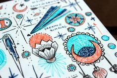 Sketchbook: Hydrangeas, fox skulls, new years