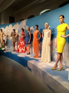 Pretty dresses in summery colors at Alice + Olivia #NYFW