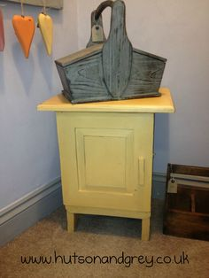 Hutson and Grey - Small cupboard in Arles Chalk Paint™. The exterior of the cupboard was painted using just one small 100ml sample pot!