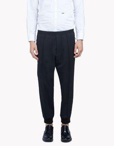 3a7401af6a083 Cropped Wool Jogging Pants - Pantalon Homme - Dsquared2 boutique en ligne  officielle Pantalons, Jogging