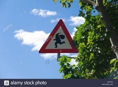 Warning, Father Christmas Ahead! Roadside Sign In Drobak, Norway Stock Photo, Royalty Free Image: 13756565 - Alamy