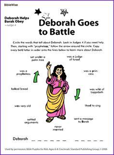 Deborah Helps Barak (Puzzle) - Kids Korner - BibleWise