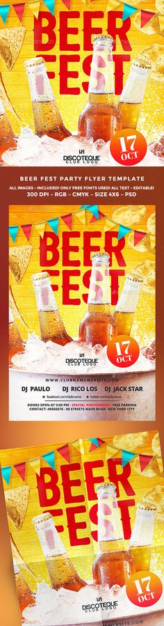 Beer Festival Flyer Template PSD. Download here: https://graphicriver.net/item/beer-festival/17258733?ref=ksioks