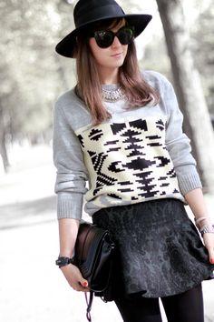 #fashion #fashionista Andy grigio bianco nero