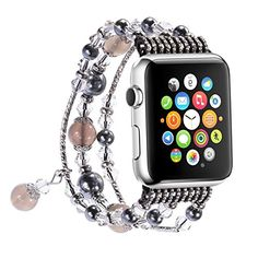48d910bfd Apple Watch Band,GEMEK Fashion Pearl Natural Stone Bracelet Replacement  iWatch Strap Band For Women