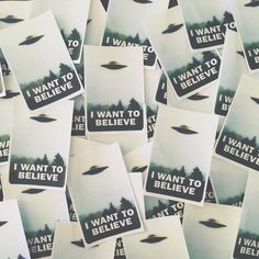 "I've got some stickers for you. every ""I want to believe"" patch that was preordered or bought after today will include one of these bad boys. Patches arrive tonight & will be shipped out tomorrow morning."