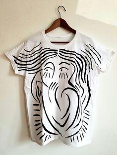 Hand painted t-shirt  See more at lara V store on etsy