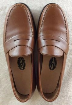 0c7b8dd88488 eBay  Sponsored OLIVER MOORE BOOTMAKERS Mens Tan Leather Handmade Penny  Loafers Shoes 10