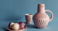 Eye catching pastel ceramics - via Lenneke Wispelwey