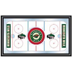Trademark Commerce NHL1500-MW NHL Minnesota Wild Framed Hockey Rink Mirror