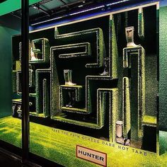 "HUNTER BOOTS, Scotland, ""THE MAZE: Take the path others dare not take"", pinned by Ton van der Veer"