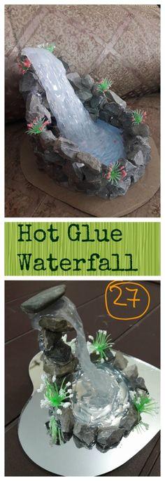 Fairy Garden - creative craft project by Artist 'Sneha Chaurasia. This beautiful decorative waterfall model is made using Hot Glue. Fairy Garden Houses, Diy Garden, Gnome Garden, Garden Crafts, Garden Projects, Garden Art, Diy Projects, Garden Ideas, Fairies Garden