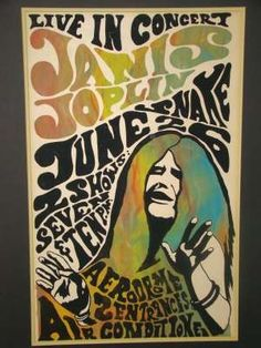 Bright vintage concert posters, something to look for at the flea market and yard sales