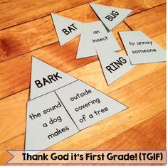 Multiple meaning triangles! Tons of grammar activities aligned to the common core!