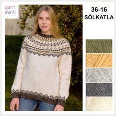 36-17 FLÓI Modell 2 - Garnmani.no - Spesialist på islandsk ull Turtle Neck, Pullover, Sweaters, Pink, Fashion, Tricot, Threading, Scale Model, Moda