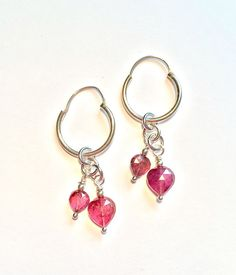 Pink Tourmaline Heart Sterling Silver by SpiralVineDesigns on Etsy