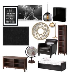 """""""Masculine Guest Room"""" by abelthermidor on Polyvore featuring interior, interiors, interior design, home, home decor and interior decorating"""