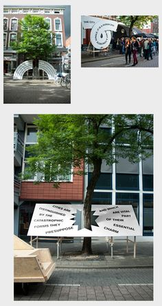 For the international art festival De Wereld van Witte de With we created an identity, signage and a series of huge street sculptures. The shapes were based on protest signs interacting with their context, in this case the street. All sculptures communicated a famous street related quote selected by curator Lukas Feireiss. This year's Festival … Continued