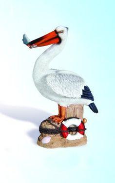 Pelican on Piling Decorative Nautical Statue . $34.99