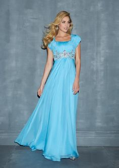 modest prom dresses 2014 | ... Ruched Bodice Chiffon Long Prom Dresses/ Formal Dress Night Moves 7182