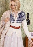 "Ravelry: Nr 9 ""Eirefjell"" kofte pattern by Sandnes Design Girls Sweaters, Cardigans For Women, Vintage Knitting, Vintage Crochet, Crochet Cardigan, Knit Crochet, Norwegian Knitting, Nordic Sweater, Fair Isle Pattern"